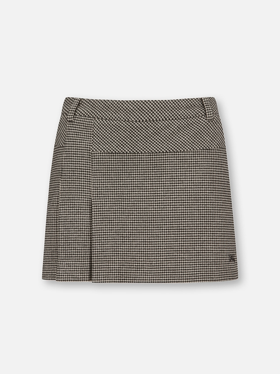 WOMENS PATTERNED PLEATED SKIRT