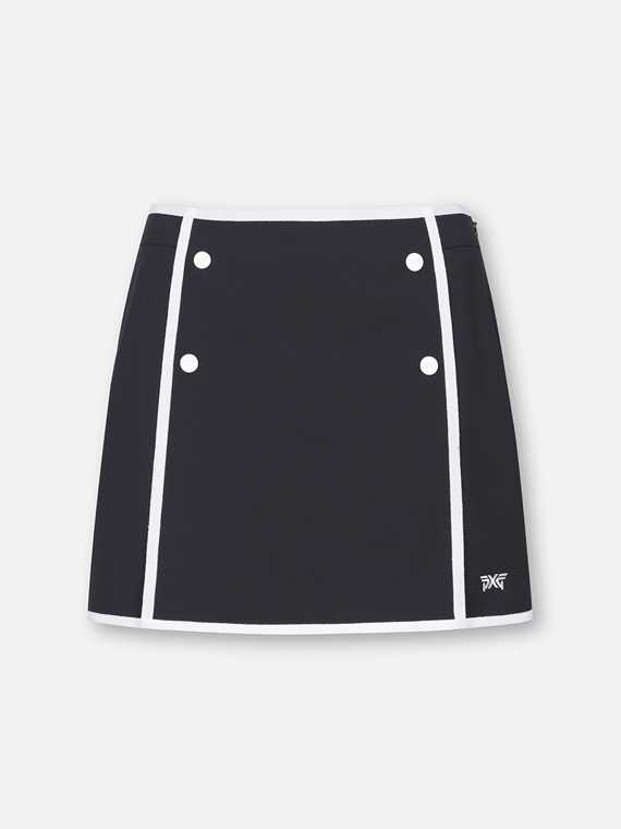 BUTTON DOWN MARINE SKIRT