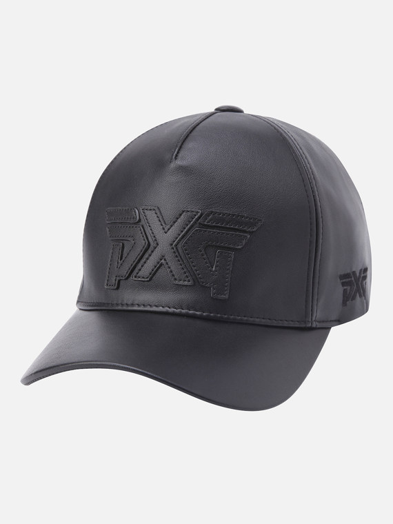 LOGO POINT LEATHER CAP