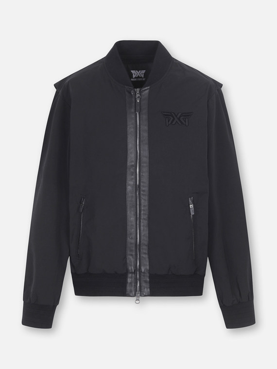 LETHER POINT BLOUSON JUMPER