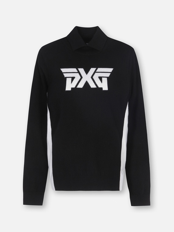 BIG LOGO TURTLE NECK SWEATER