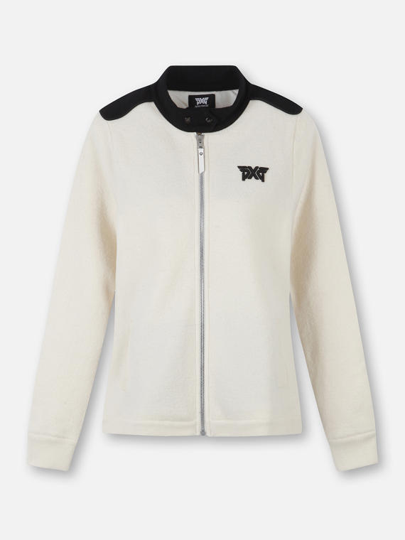 BACK LOGO FULL ZIP SWEATER
