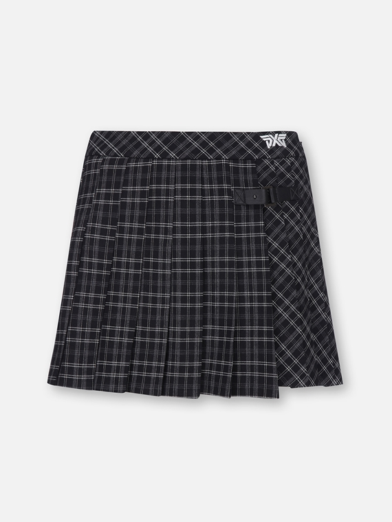 WOMENS PLEATED CHECK SKIRT