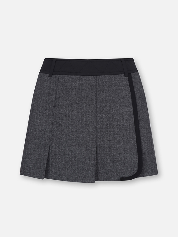 WOMENS PLEATED WOOL SKIRT