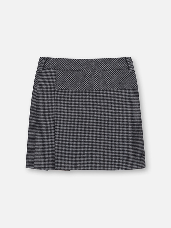 PATTERNED PLEATED SKIRT