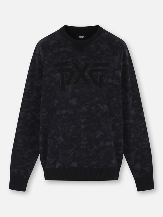 CAMO PATTERN PULLOVER KNIT