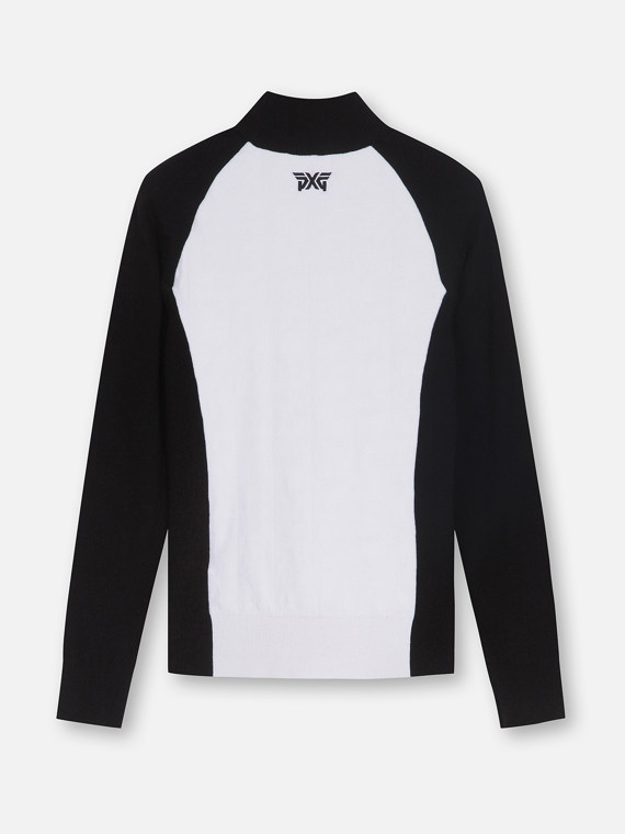SLEEVE WINDPROOF JAQUARD SWEATER