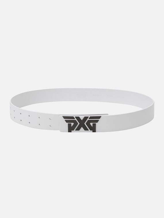 PXG Black Buckle Logo Belt - MEN