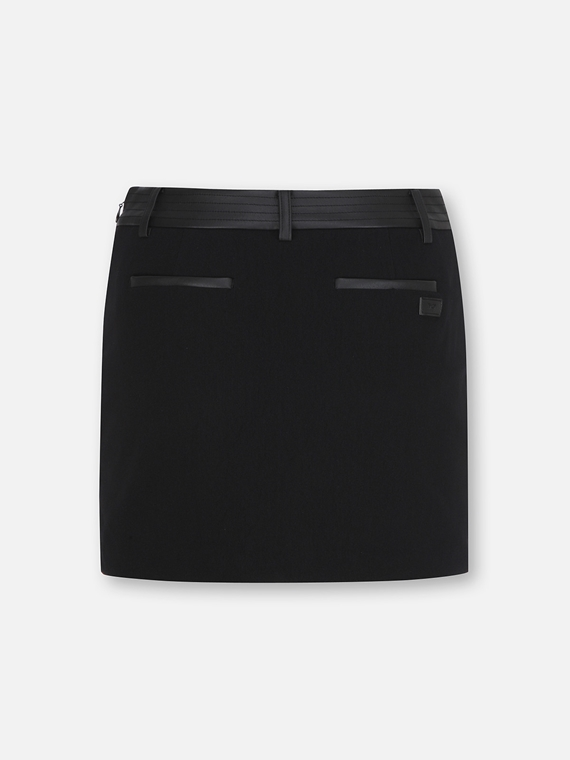 WOMENS STITCHED POCKET SKIRT