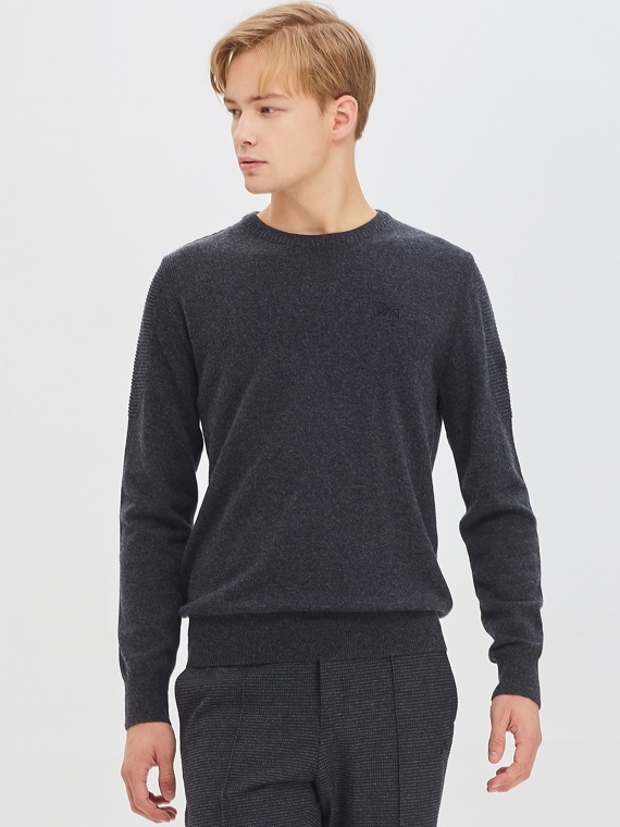 CASHMERE BLEND TEXTURED SWEATER