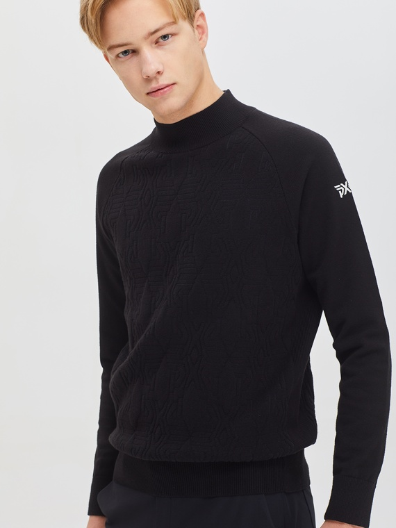 WINDPROOF JAQUARD TURTLE NECK SWEATER