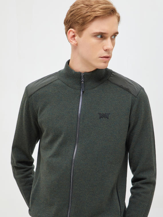 SPECIAL SHOULDER PATCH FULL ZIP SWEATER