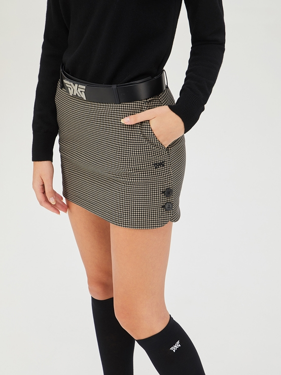 WOMENS CURVED PATTERNED SKIRT