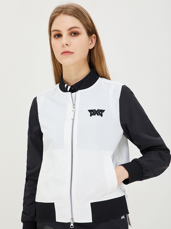 WOMEN SPRING COLOR BLOCK MA-1 JACKET