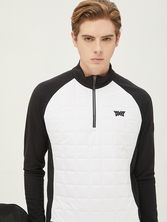 WINTER HYBRID THIN PADDING HALF ZIP-UP JACKET
