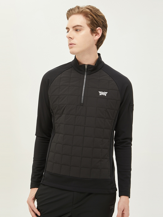 WINTER HYBRID THIN PADDING HALF-ZIP UP JACKET