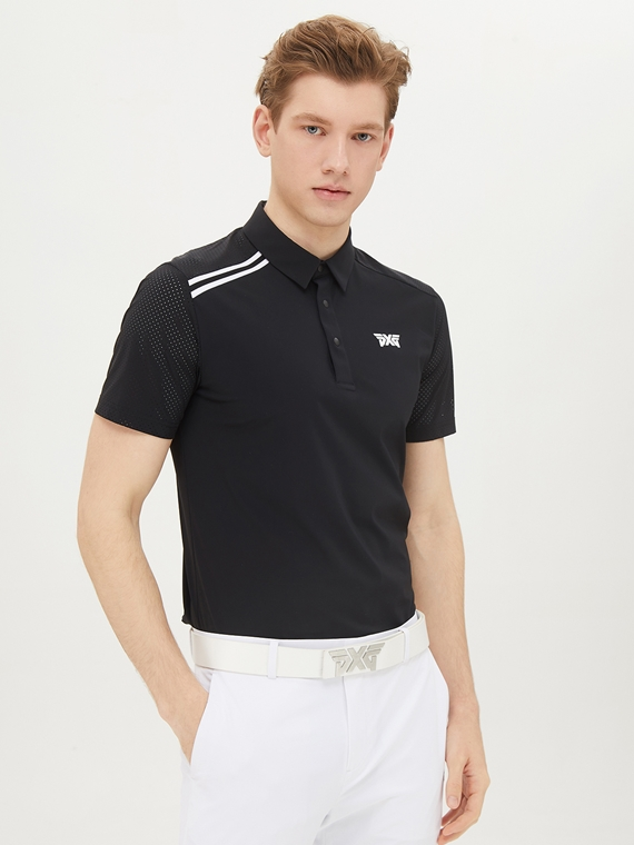 SLEEVE PERFORATED COLLAR SHORT SLEEVE