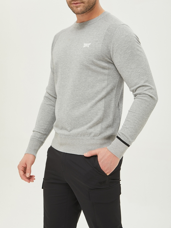 SOLID BASIC ROUND NECK PULLOVER KNIT